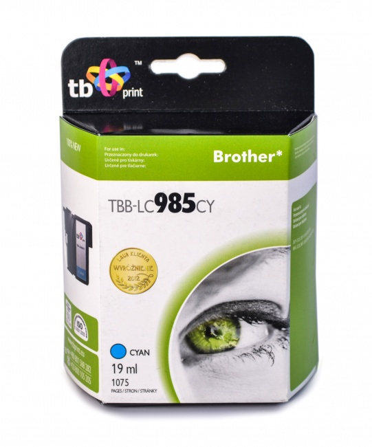 Tusz do Brother LC 985 TBB-LC985CY CY