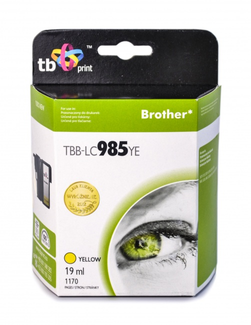 Tusz do Brother LC 985 TBB-LC985YE YE
