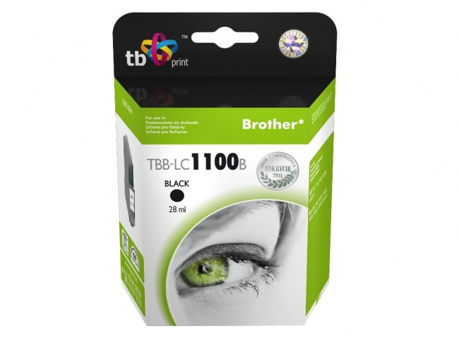 Tusz do Brother LC980/1100 TBB-LC1100B BK 100% nowy