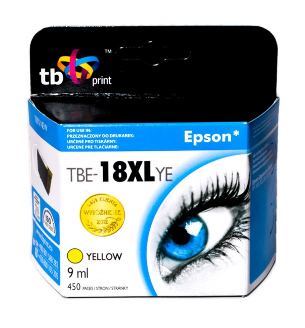 Tusz do Epson XP 302 TBE-18XLYE YE