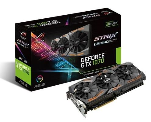 GeForce GTX 1070 STRIX 8GB DDR5 256BIT DVI/HDMI/DP