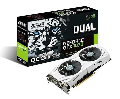 GeForce GTX 1070 DUAL 8GB DDR5 256BIT DVI/HDMI/DP