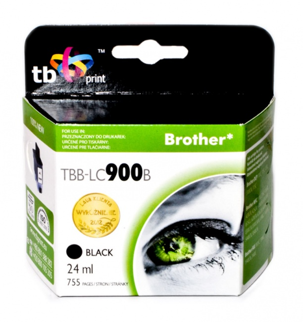 Tusz do Brother LC900 TBB-LC900B BK 100% nowy