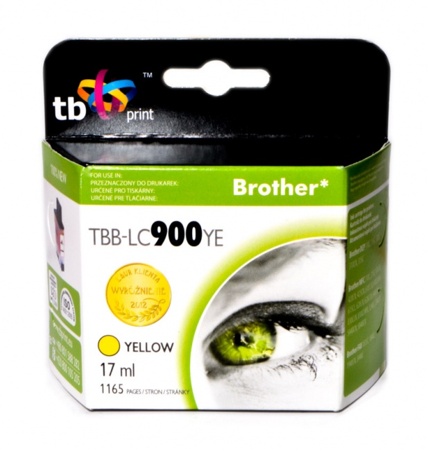 Tusz do Brother LC900 TBB-LC900YE YE 100% nowy