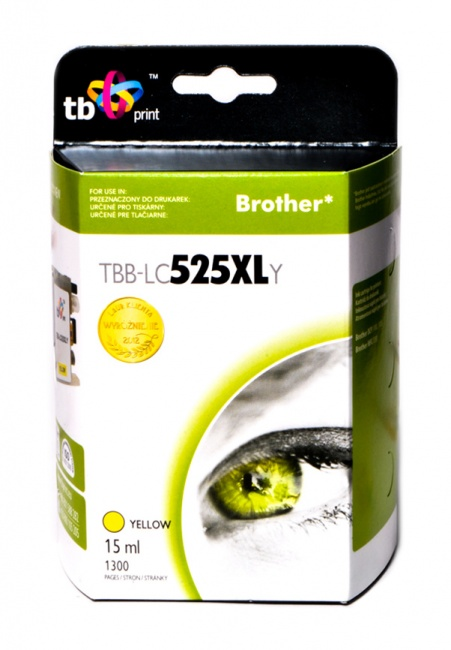 Tusz do Brother LC529/539  TBB-LC525XLY YE