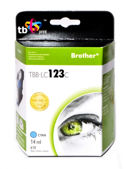 Tusz do Brother LC123  TBB-LC123C CY