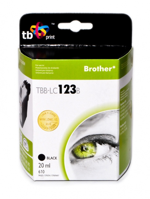 Tusz do Brother LC123 TBB-LC123B BK