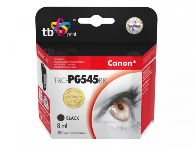 Tusz do Canon PIXMA iP2850/MG2950/2550/2450/MX495 TBC-PG545B BK ref.