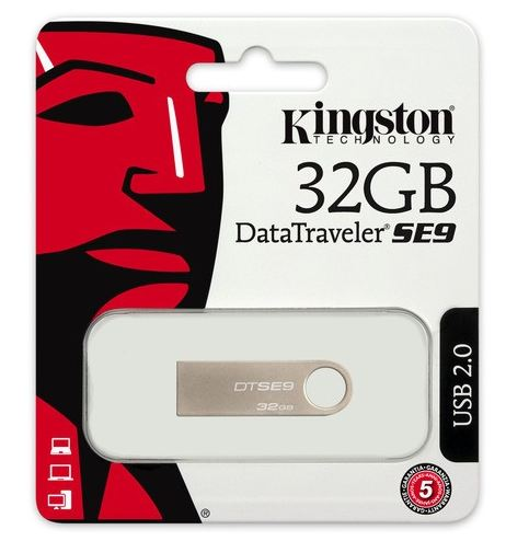Pendrive Data Traveler SE9 32GB USB2.0 Silver Metal