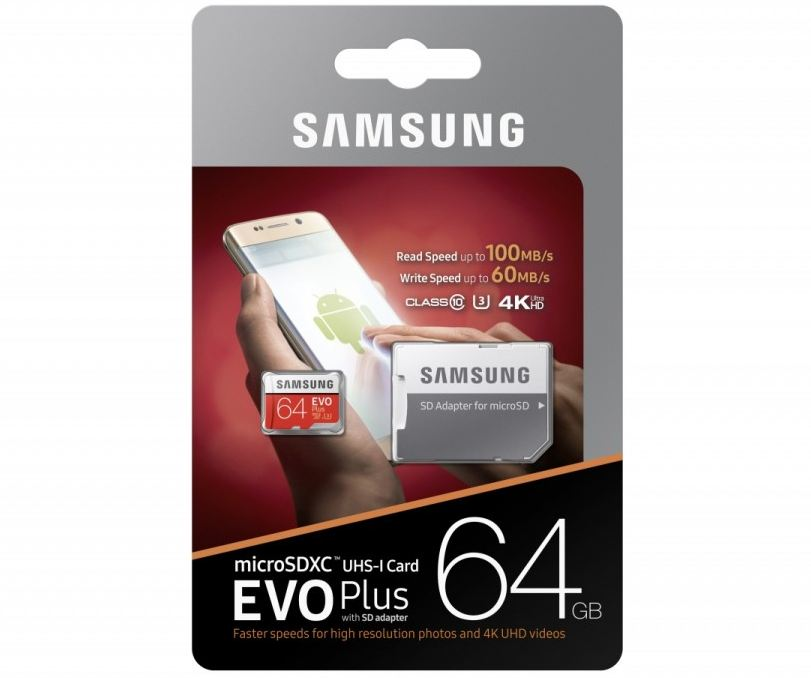 Pamięć SD-micro  64GB Samsung EVO Plus MB-MC64GA/EU