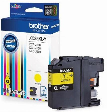 Tusz Brother LC525XLY YELLOW 1300 do DCP-J100 DCP-J105