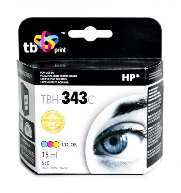 Tusz do HP Nr 343 - C8766EE TBH-343C Kolor ref.