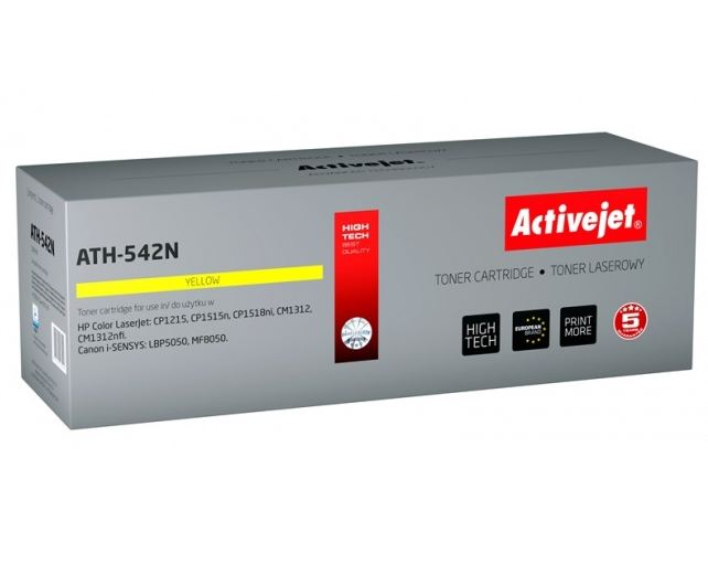 Toner Activejet ATH-542N (do Canon Hewlett Packard  zamiennik HP 125A/Canon CRG-716Y CB542A supreme 1600str. yellow)