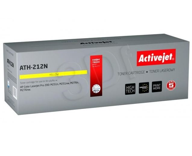 Toner Activejet ATH-212N (do Canon Hewlett Packard  zamiennik HP 131A/Canon CRG-731Y CF212A supreme 1800str. yellow)