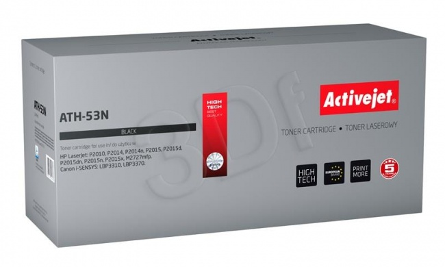 ACJ toner HP 7553A LJ P2015 NEW 100% AT-53N