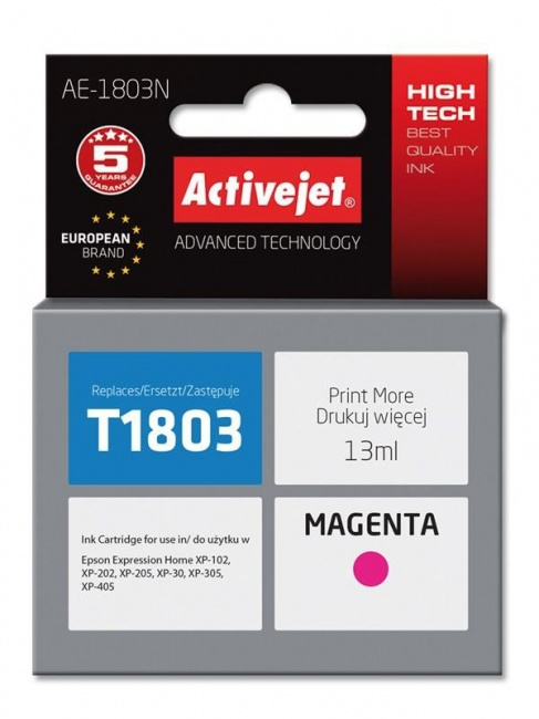 Tusz Activejet AE-1803N (Epson T1803) supreme 13ml magenta