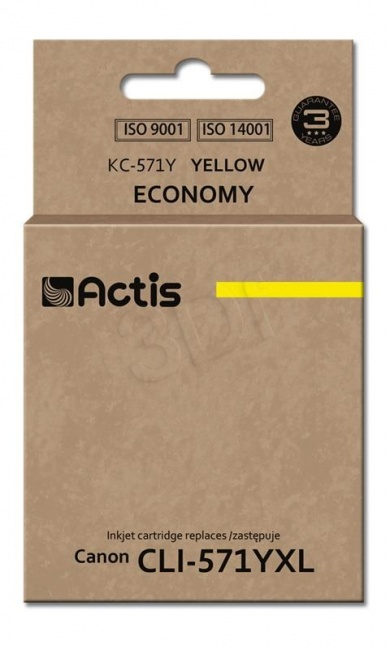 Tusz Actis KC-571Y (Canon  CLI-571Y) standard 12ml yellow