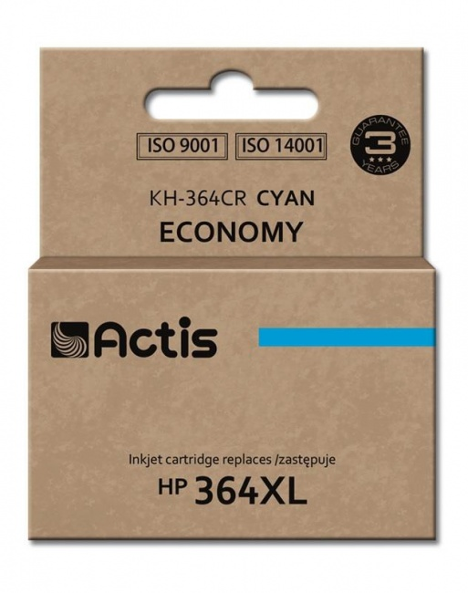 Tusz Actis KH-364CR (HP 364XL CB323EE) standard 12ml cyan Chip