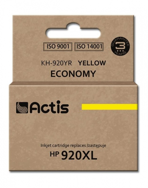 Tusz Actis KH-920YR (HP 920XL CD974AE) standard 12ml yellow