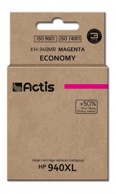 Tusz Actis KH-940MR (HP 940XL C4908AE) standard 35ml magenta