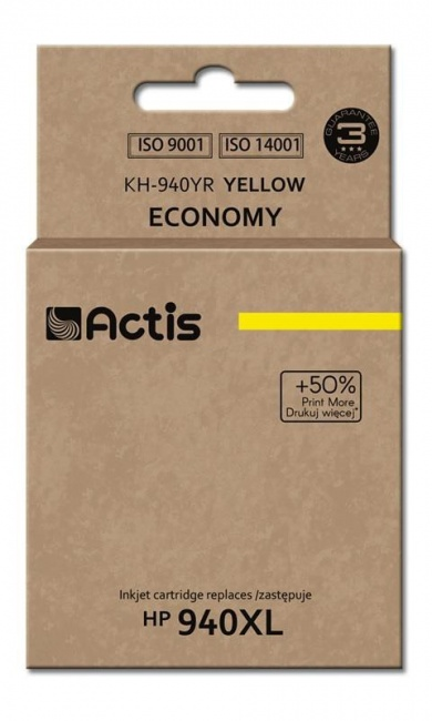 Tusz Actis KH-940YR (HP 940XL C4909AE) standard 35ml yellow