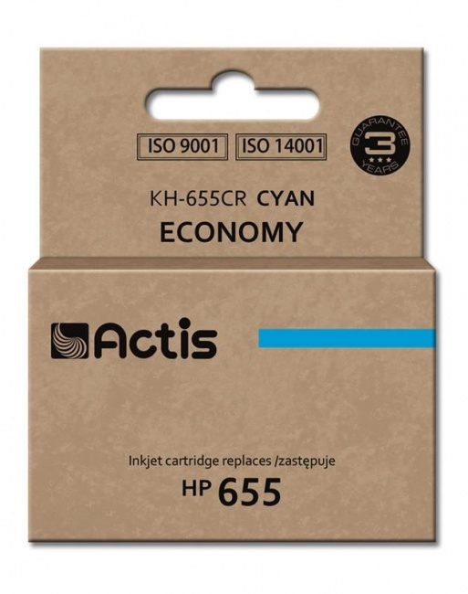 Tusz Actis KH-655CR (HP 655 CZ110AE) standard 12ml cyan Chip