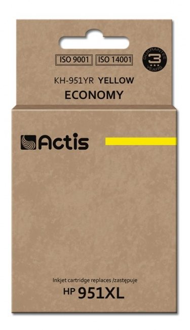 Tusz Actis KH-951YR (HP 951XL CN048AE) standard 25ml yellow Chip